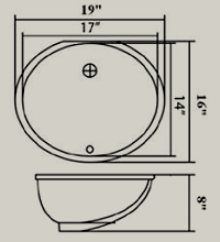 undermount oval drawing